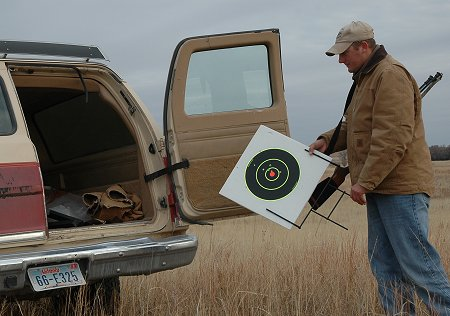Off-season rifle practice in game country helps you hit under hunting conditions from field positions.