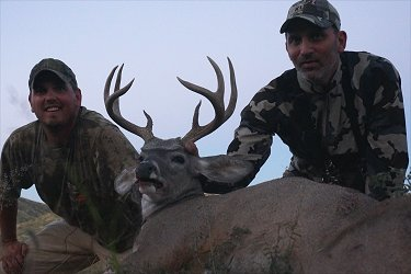 Rick Bin and outfitter Greg Williams with a 105 Coues deer taken with Arizona Backcountry Adventures.
