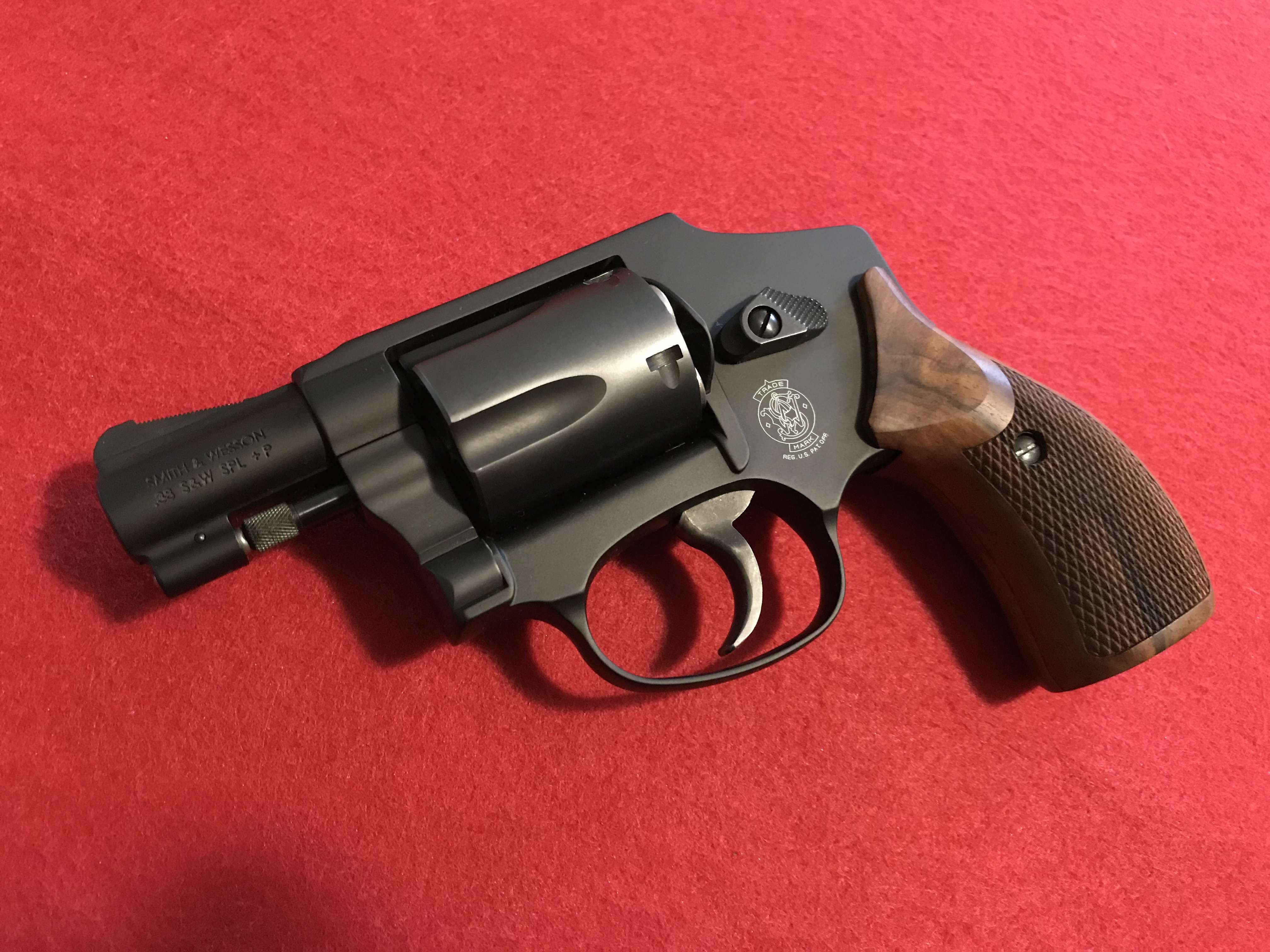 Here's what I used on my 442. Wood, so non-sticky on fabrics, but more hand filling than the standard J-Frame wood grips from S&W, yet not overly large, ...