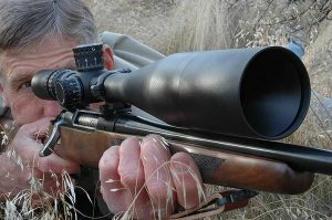 Powerful scopes help you see small targets and read mirage far away. Hitting depends on conditions.