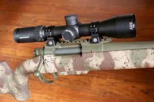 Many dialing scopes have an exposed elevation turret, but some designed specifically for hunting, like this Nightforce SHV, have a capped turret.